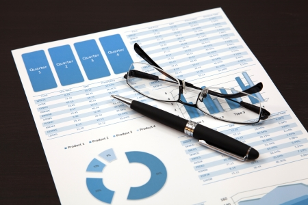 business chart showing financial success photo