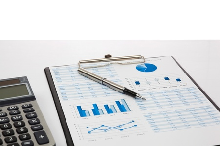 Financial graphs and charts showing photo