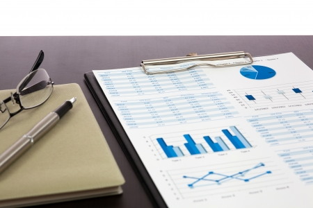 finance charts and graphs Stock Photo - 20039624