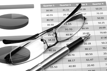 stock index: Stock market graphs and charts Stock Photo