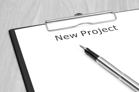 The word projects close up in paper Stock Photo - 20039482