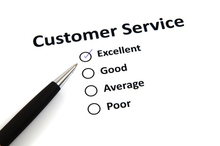 customer service survey with checkbox Stock Photo - 20276695