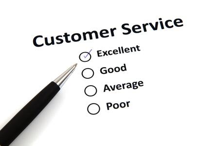 customer service survey with checkbox Stock Photo - 20276695