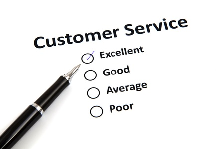 customer service survey with checkbox photo