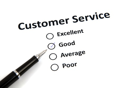 customer service survey with checkbox Stock Photo - 20276798