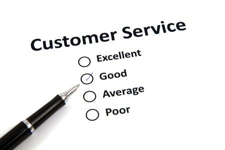 customer service survey with checkbox Stock Photo - 20276798