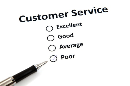 customer service survey with checkbox