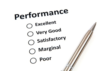 satisfactory: Performance evaluation form