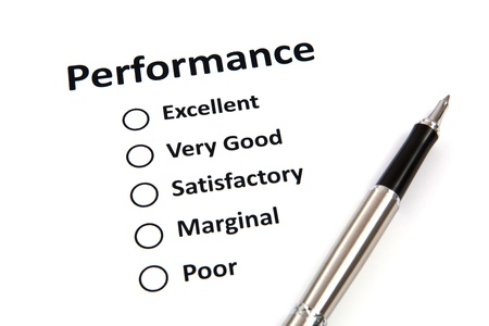 Performance evaluation form photo