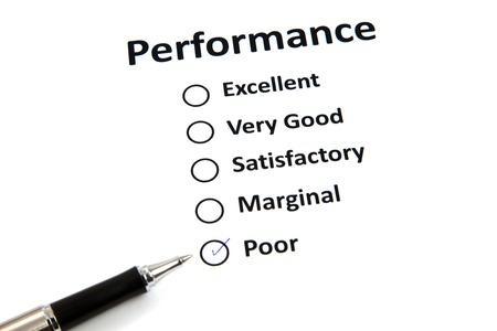 Performance evaluation form Stock Photo - 20285762