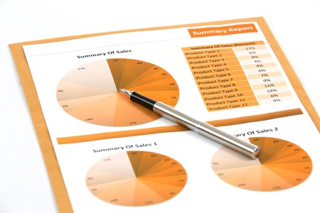 financial charts and graphs white background photo
