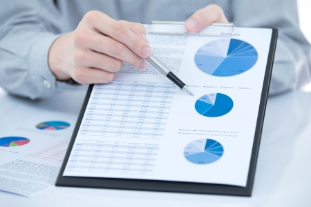 marketing research: Business chart showing financial success