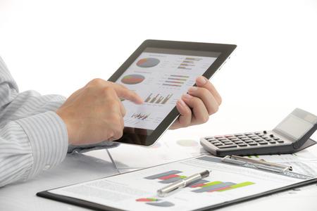 zakelijke grafiek met financieel succes Stockfoto