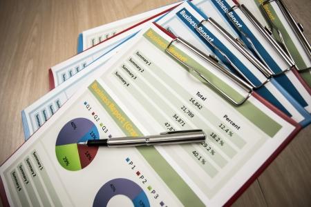 Business graph rapport d'analyse. Comptabilité Banque d'images