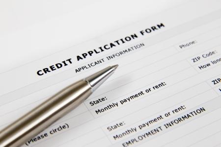blank credit application