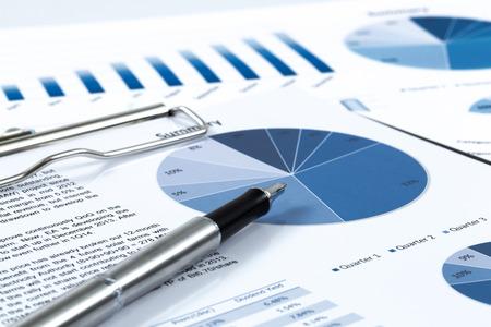 Toont het bedrijfsleven en financieel verslag