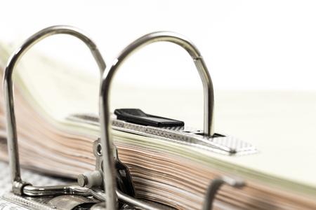 document management: Open office ring binder - document management