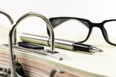 disorganization: Open office ring binder - document management