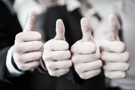 eager: Group of hands with thumbs up expressing positivity.Asian