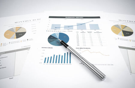 account statements: Showing business and financial report. Accounting