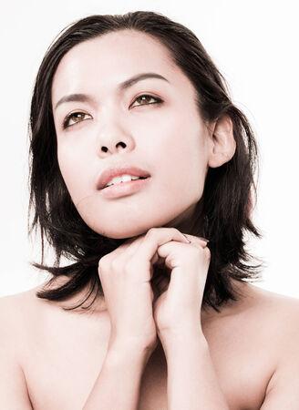 Asian beauty face closeup portrait photo