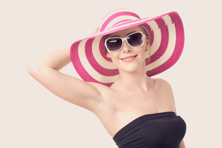 Beautiful woman in a hat photo