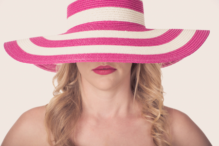Portrait of attractive sexy woman with hat photo