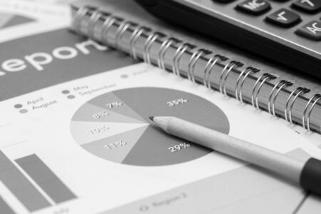 financial figures: Showing business and financial report. Accounting