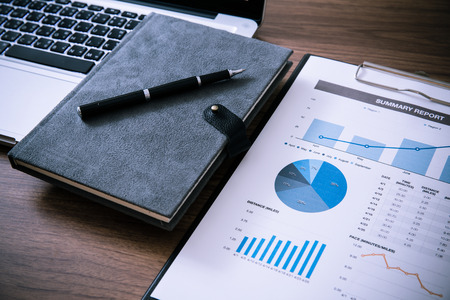 growth business: Showing business and financial report. Accounting