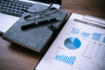 Affichage activités et un rapport financier. Comptabilité