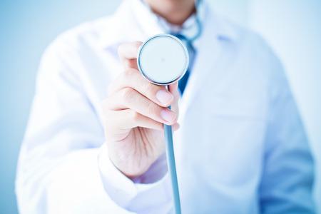 stethoscope exam: Doctor with stethoscope Stock Photo