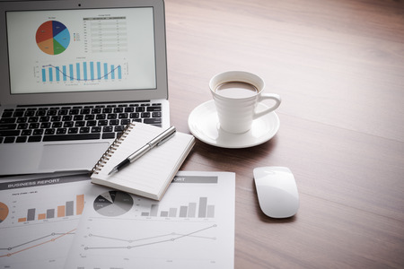 accounting: Showing business and financial report. Accounting