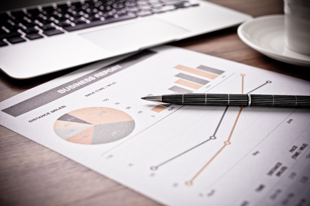 financial graphs: Showing business and financial report. Accounting