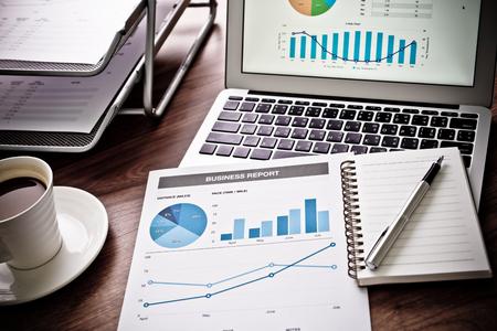 ビジネスと財務報告書を示します。会計 写真素材 - 44301612