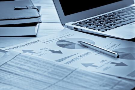 Affichage des affaires et rapport financier. Comptabilité