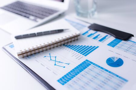 banking information: Showing business and financial report. Accounting