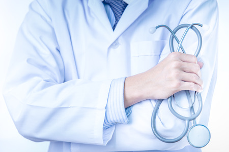 stethoscope: Doctor with stethoscope Stock Photo
