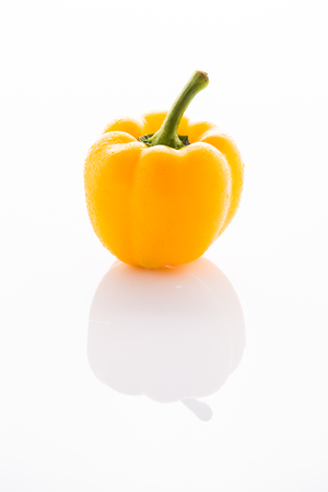 bell pepper: Yellow bell pepper isolated on white
