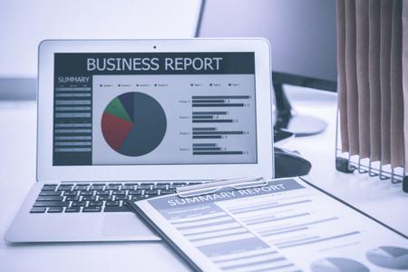 Het tonen zakelijke en financieel verslag. Accounting