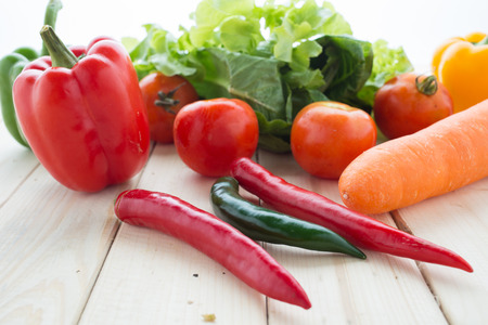 truck crops: collection fruits and vegetables isolated on a white background Stock Photo