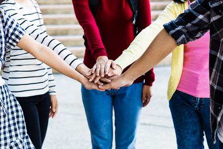 relation: Team Teamwork Relation Together Unity Friendship Concept