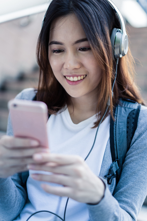 soundtrack: Woman Listening Music Media Entertainment Relaxation Concept