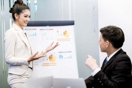 advice: Business People Talking Discussing Concept.Asian Stock Photo