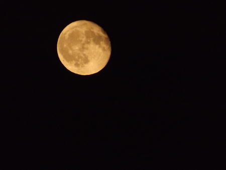 Full moon in Lisbon - Portugal. Night detail