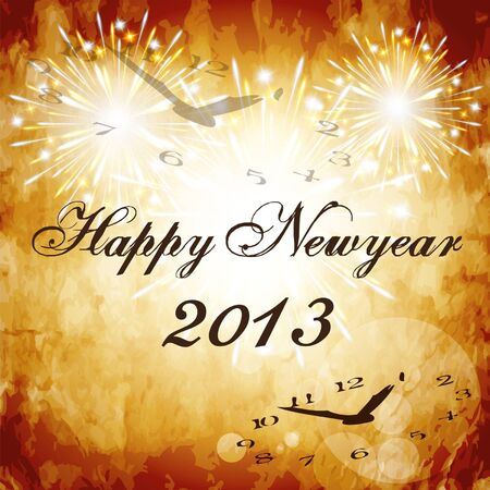 Happy new year 2013 Vintage style1 Stock Vector - 16888255