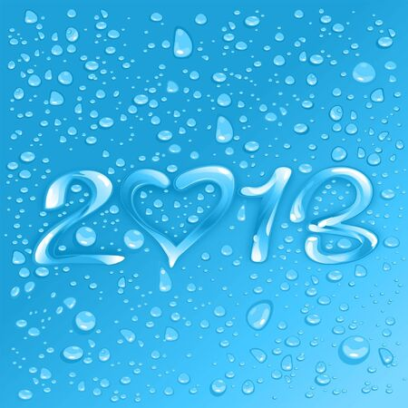 Happy New Year 2013 Illustration