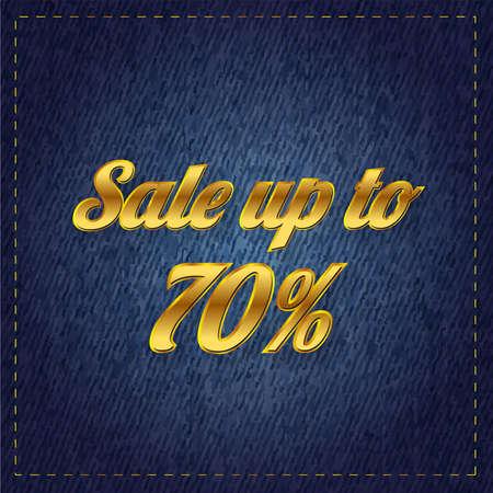 Sale jeans vector