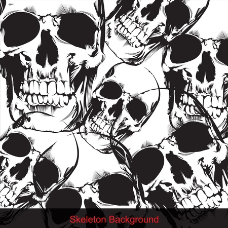 Skeleton Background1 Illustration
