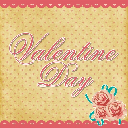 valentine day vector background vintage Stock Vector - 16888257