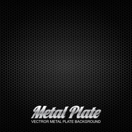vector metal plate 4 Stock Vector - 16888261